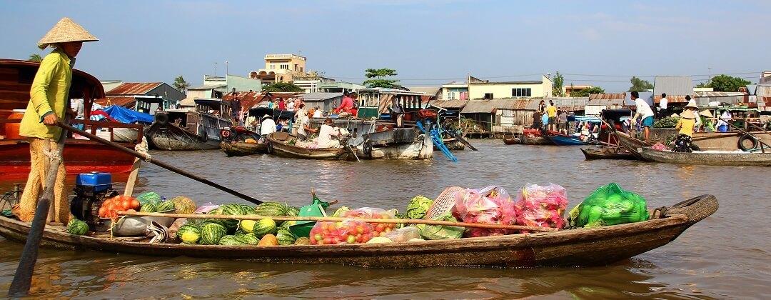 Cai Rang Floating Market (nabij Can Tho)