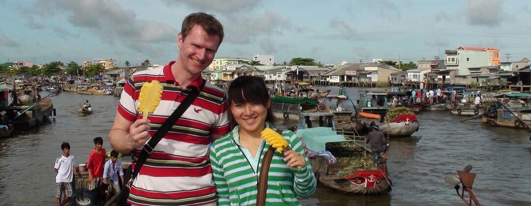 Cai Rang Floating Market - nabij Can Tho, Mekong Delta, Vietnam