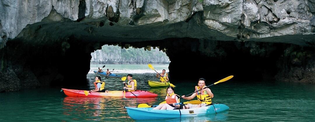 Kajakken - Halong Bay, Vietnam