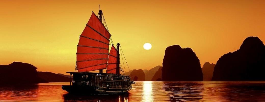 Zonsondergang – Halong Bay